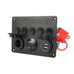 Panel de Control 5 Switch,...